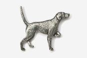#456 - English Pointer Antiqued Pewter Pin