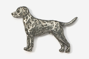 #456A - Dalmatian Antiqued Pewter Pin