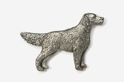 #457 - English Setter Antiqued Pewter Pin