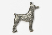 #459 - Doberman Antiqued Pewter Pin