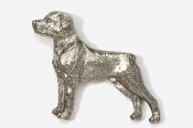 #460 - Rottweiler Antiqued Pewter Pin