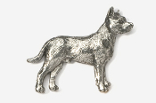 #460B - Pit Bull Antiqued Pewter Pin