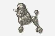 #461A - Show Clip Poodle Antiqued Pewter Pin