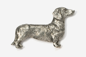 #462 - Smooth Dachshund Antiqued Pewter Pin