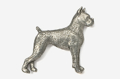 #463 - Boxer Antiqued Pewter Pin