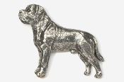 #463C - Mastiff Antiqued Pewter Pin