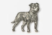 #463D - American Bulldog Antiqued Pewter Pin
