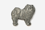 #464 - Chow Antiqued Pewter Pin