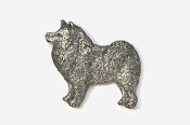 #464B - Samoyed Antiqued Pewter Pin