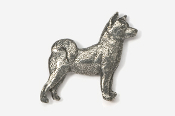 #464C - Akita Antiqued Pewter Pin