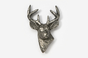 #467 - 6 Point Buck Antiqued Pewter Pin