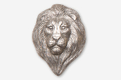 #493A - Lion Head Antiqued Pewter Pin