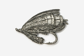 #513 - Salmon Fly Antiqued Pewter Pin