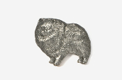 #851 - Pomeranian Antiqued Pewter Pin