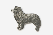 #854 - Border Collie Antiqued Pewter Pin