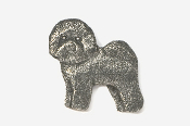 #856 - Bichon Frise Antiqued Pewter Pin