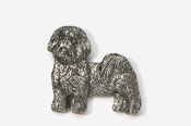 #862A - Pet Clip Shih Tzu Antiqued Pewter Pin