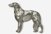 #870 - Borzoi Antiqued Pewter Pin