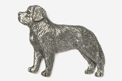 #871A - Saint Bernard Antiqued Pewter Pin