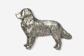 #872 - Bernese Mountain Dog Antiqued Pewter Pin