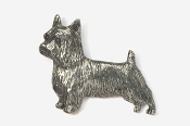 #874 - Silky Terrier Antiqued Pewter Pin