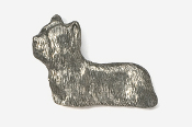 #876 - Skye Terrier Antiqued Pewter Pin