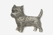 #877 - Cairn Terrier Antiqued Pewter Pin