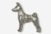 #879 - Basenji Antiqued Pewter Pin