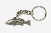 #K227 - Redfish / Red Drum Antiqued Pewter Keychain