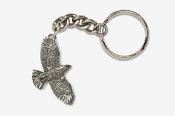 #K368 - Flying Hawk Antiqued Pewter Keychain