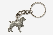 #K455 - Brittany Antiqued Pewter Keychain