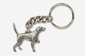#K456 - English Pointer Antiqued Pewter Keychain