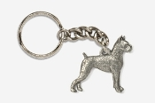 #K463 - Boxer Antiqued Pewter Keychain