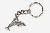 #K475 - Dolphin / Porpoise Antiqued Pewter Keychain