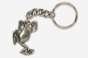 #K591 - Climbing Tree Frog Antiqued Pewter Keychain