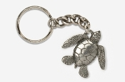 #K607 - Sea Turtle Antiqued Pewter Keychain