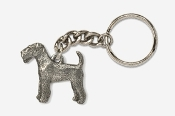 #K859 - Airedale Antiqued Pewter Keychain