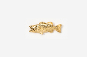 #TT140G - Left facing Largemouth Bass 24K Plated Tie Tac