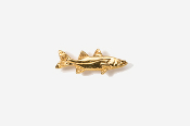 #TT206G - Snook 24K Plated Tie Tac
