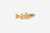 #TT207G - Striper / Striped Bass 24K Plated Tie Tac