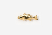 #TT227G - Redfish / Red Drum 24K Plated Tie Tac