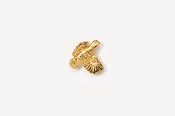 #TT329G - Open Wing Flying Bobwhite 24K Plated Tie Tac