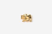 #TT405G - Black Bear 24K Plated Tie Tac