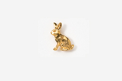 #TT412G - Rabbit 24K Plated Tie Tac