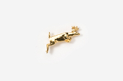 #TT420G - Jumping Whitetail Deer 24K Plated Tie Tac