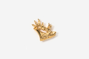 #TT434G - Elk Head 24K Plated Tie Tac