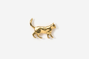 #TT438G - Walking Cat 24K Plated Tie Tac