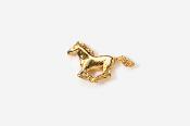 #TT443G - Galloping Horse 24K Plated Tie Tac