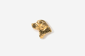 #TT450BG - Labrador Retriever Head 24K Plated Tie Tac