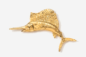 #201G - Sailfish 24K Gold Plated Pin